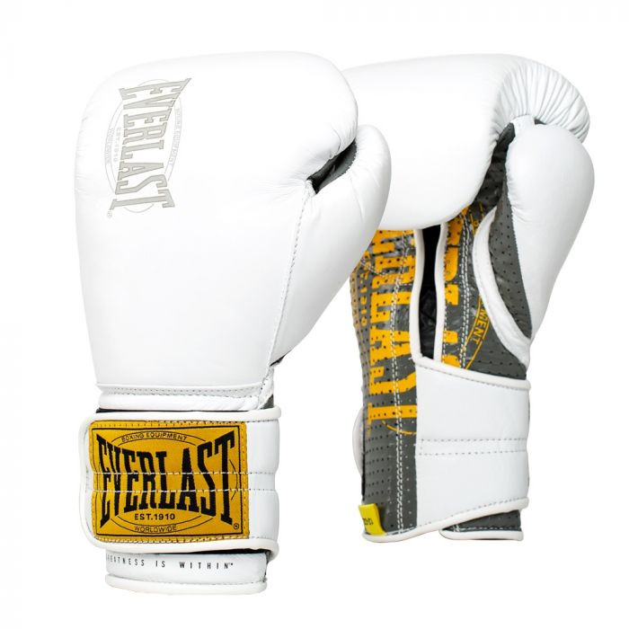 Everlast Boxing 1910 Fight Gloves Lace Blue