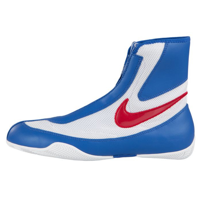Nike Machomai Mid Top - Red/White/Blue Boxing Shoes