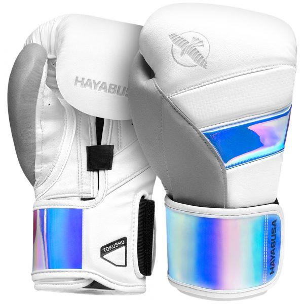Hayabusa T3 Boxing Gloves White/Iridescent