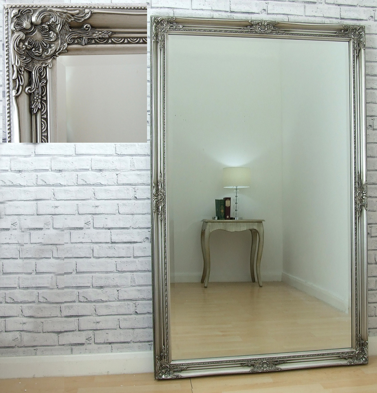 Leon Extra Large Vintage Full Length Wall Leaner Mirror