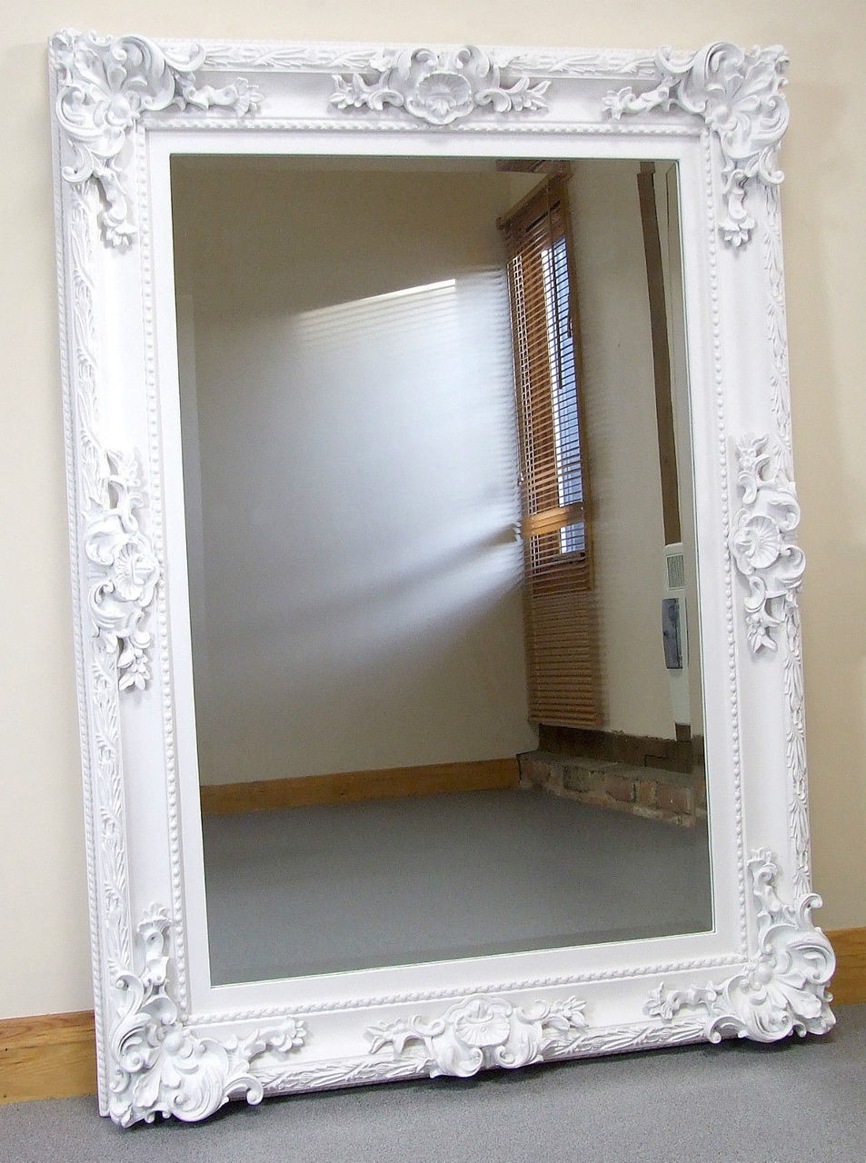 Paris French Antique Style Ornate Rectangle Wall Mirror White 33 X 45 Mirrors 2 Home
