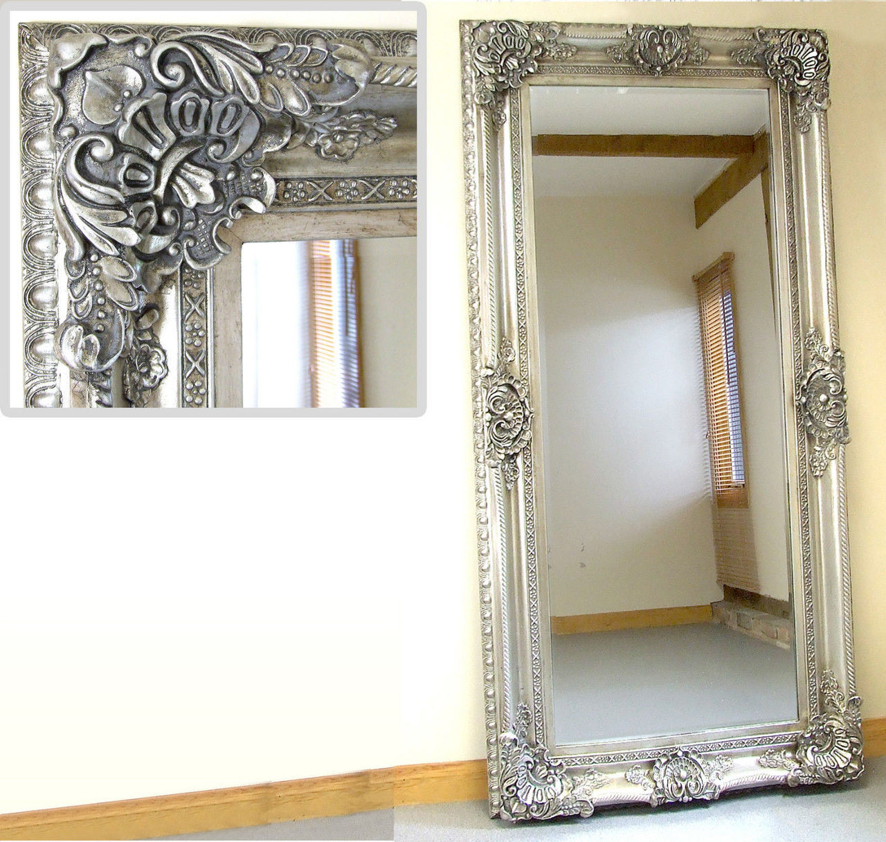 Wondrous Seville Large Shabby Chic Vinatge Full Length Wall Leaner Download Free Architecture Designs Scobabritishbridgeorg