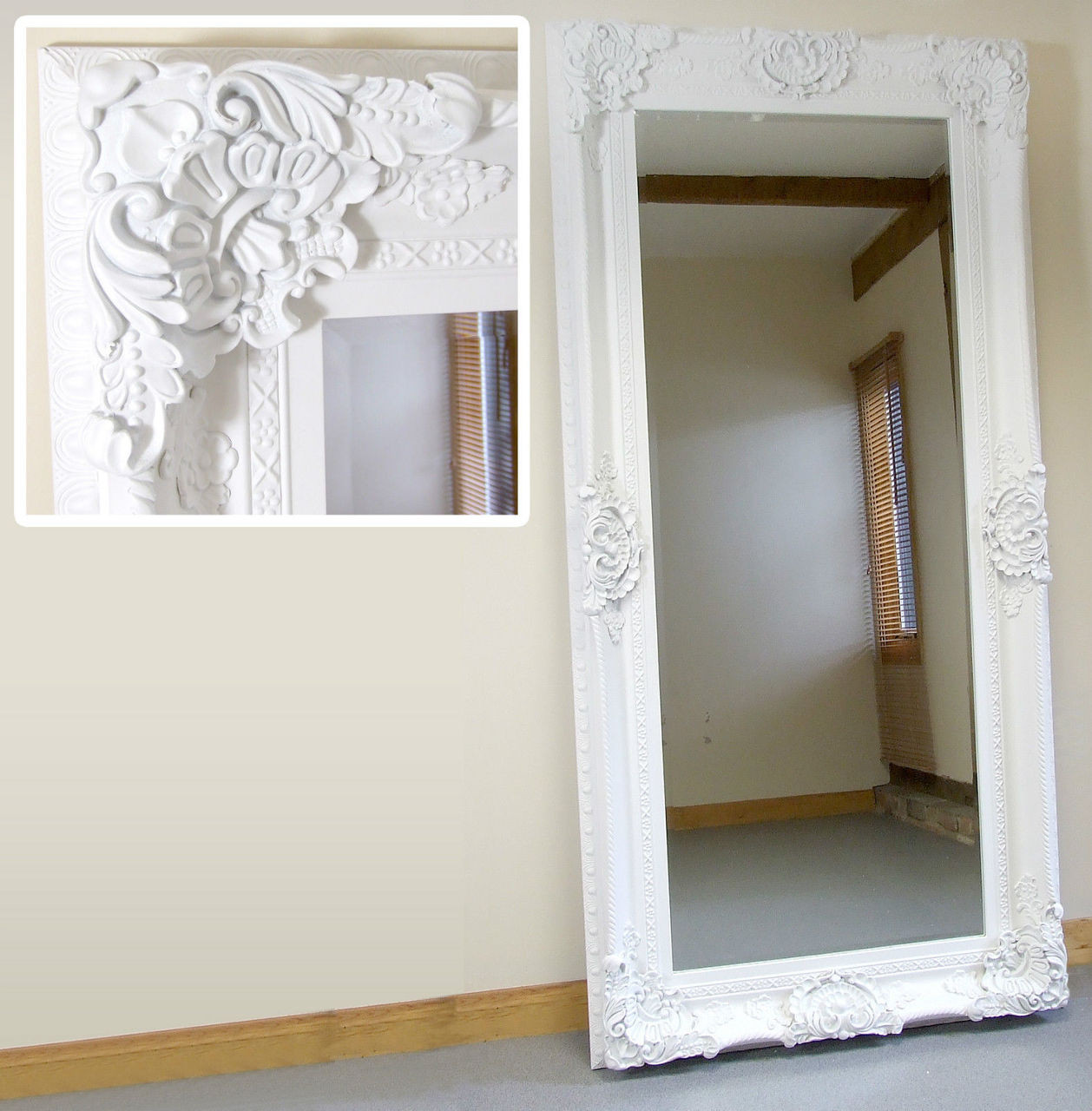 36 x 72 mirror languageblag image seville ornate large french full length wall leaner mirror white 36