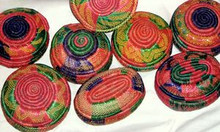 Ethiopian Multicolored Baskets - Small