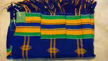 These tallitot are made by the Jewish community of Sefwi Wiawso in Ghana. To learn more about them, please visit www.kulanu.org/ghana