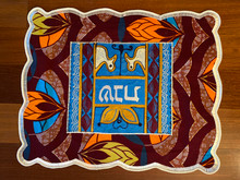 "-of-a-kind challah covers crafted by the Tiferet Israel community in Sefwi Wiawso, Ghana. They are truly beautiful crafts, with embroidery and pieced African fabrics surrounding the Hebrew word ""Shabbat"" in the center. As no two are exactly alike, bulk orders will be comprised of assorted colors and patterns.                                                                                                          Proceeds from the sale of the challah covers benefit the Jewish community of Ghana.Type a description for this product here..."