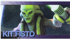 Star Wars Clone Wars Widevision Foil Kit Fisto # 18
