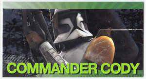 Star Wars Clone Wars Widevision Foil Commander Cody
