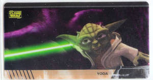 Star Wars Clone Wars Widevision Cell Yoda # 2