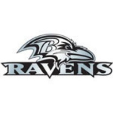 Baltimore Ravens Chrome Car Emblem