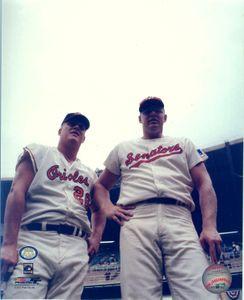 Boog Powell and Frank Howard auto 16x20 Photo