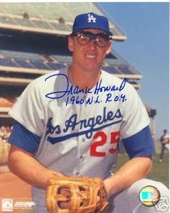 Los Angeles Dodgers FRANK HOWARD  Auto photo w/ COA