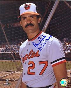 Benny Ayala Orioles Auto Photo w/  WS Inscription
