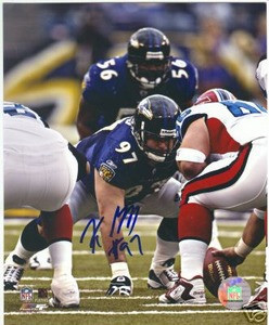 Baltimore Ravens KELLY GREGG autograph photo