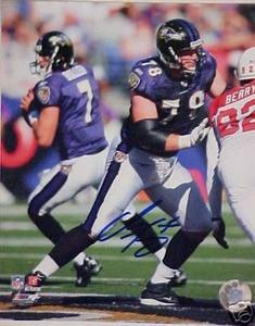 Baltimore Ravens ADAM TERRY autograph photo w/ COA