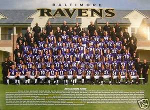 Baltimore Ravens 2009 team photo  w/ coaches