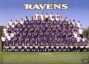 Baltimore Ravens 2008 Team Photo 12 X 9 w/ coaches +