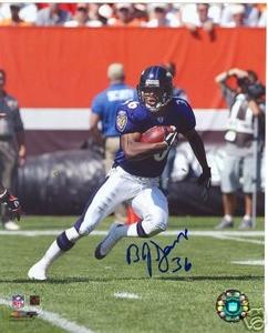 Baltimore Ravens  B J SAMS  Autograph photo w/ COA