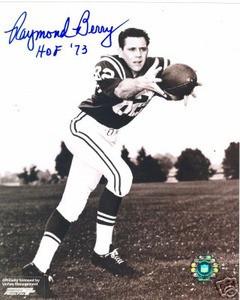 Baltimore Colts HOF Raymond Ray Berry Auto photo SMU