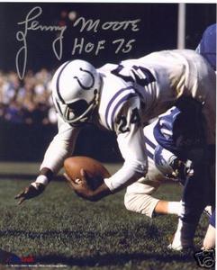 Baltimore Colts HOF Lenny Moore autograph photo
