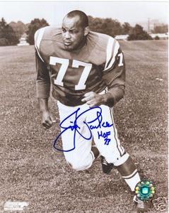 Baltimore Colts HOF Jim Parker Auto Photo signed