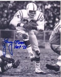 Baltimore Colts HOF Lenny Moore auto photo
