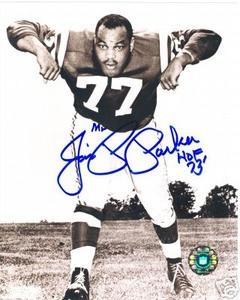 Baltimore Colts HOF Jim Parker signed photo Auto