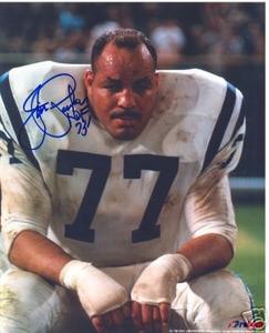Baltimore Colts HOF Jim Parker auto photo Ohio State