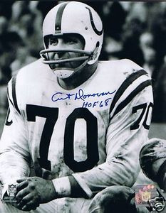 Baltimore Colts HOF Art Donovan Auto Photo