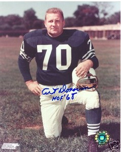 Baltimore Colts HOF Art Donovan Auto Photo signed