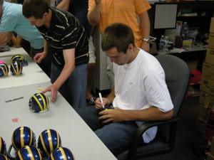 Our Joe Flacco Autographed Mini Helmet