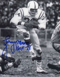 Lenny Moore Autograph Ticket