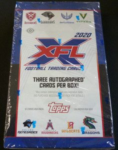 2020 Topps XFL Football Factory Sealed Hobby Box