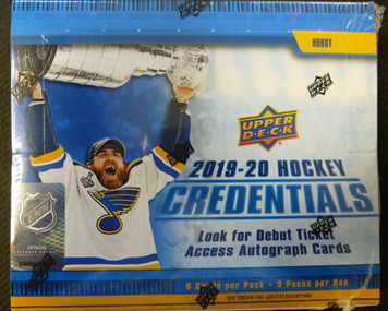 2019-20 Upper Deck Credentials Hockey Sealed Hobby Box