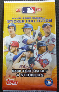 2020 Topps MLB Sticker Packs (Individual Sealed Pack)