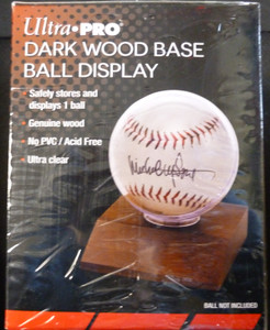 Ultra Pro Wood Base Baseball Holder (ball not included)