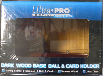 Ultra Pro Dark Wood Base Ball & Card Holder (ball and card not included)