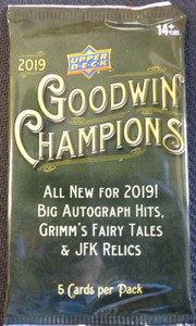 2019 Upper Deck Goodwin Champions sealed pack