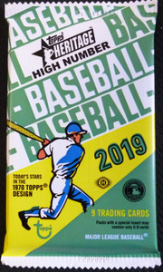 2019 Topps Heritage High Number sealed pack