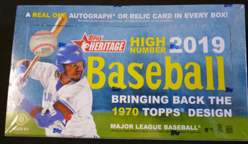 2019 Topps Heritage High Number sealed hobby box