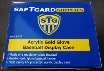 SafTGard Gold Glove Baseball Display Case UV Rated