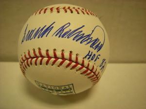 Frank Robinson Auto Hall of Fame Baseball