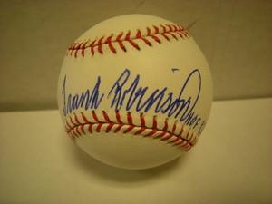 Frank Robinson Auto American League Baseball HOF82