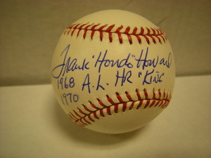 """Frank """"Hondo"""" Howard Auto American League Baseball"""