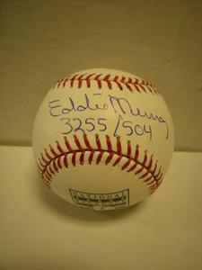 Eddie Murray Auto Hall of Fame Baseball