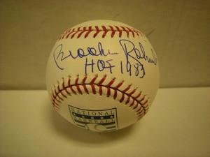 Brooks Robinson Auto Hall of Fame Baseball HOF1983
