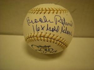 Brooks Robinson Auto 16 Gold Gloves Baseball