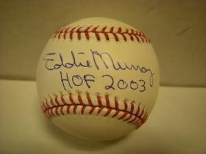 Eddie Murray Auto Baseball