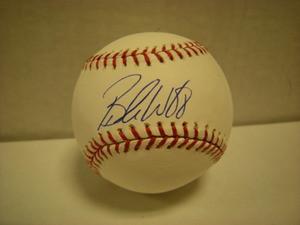 Brandon Webb Autographed Baseball