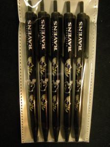 Baltimore Ravens Click Pens 5-Pack